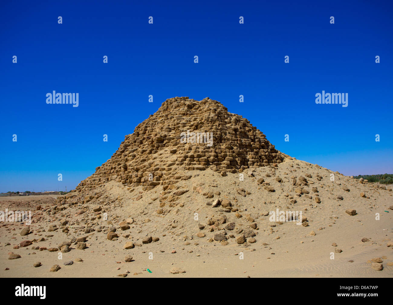 Royal Pyramids Of Napata, Nuri, Sudan Stock Photo