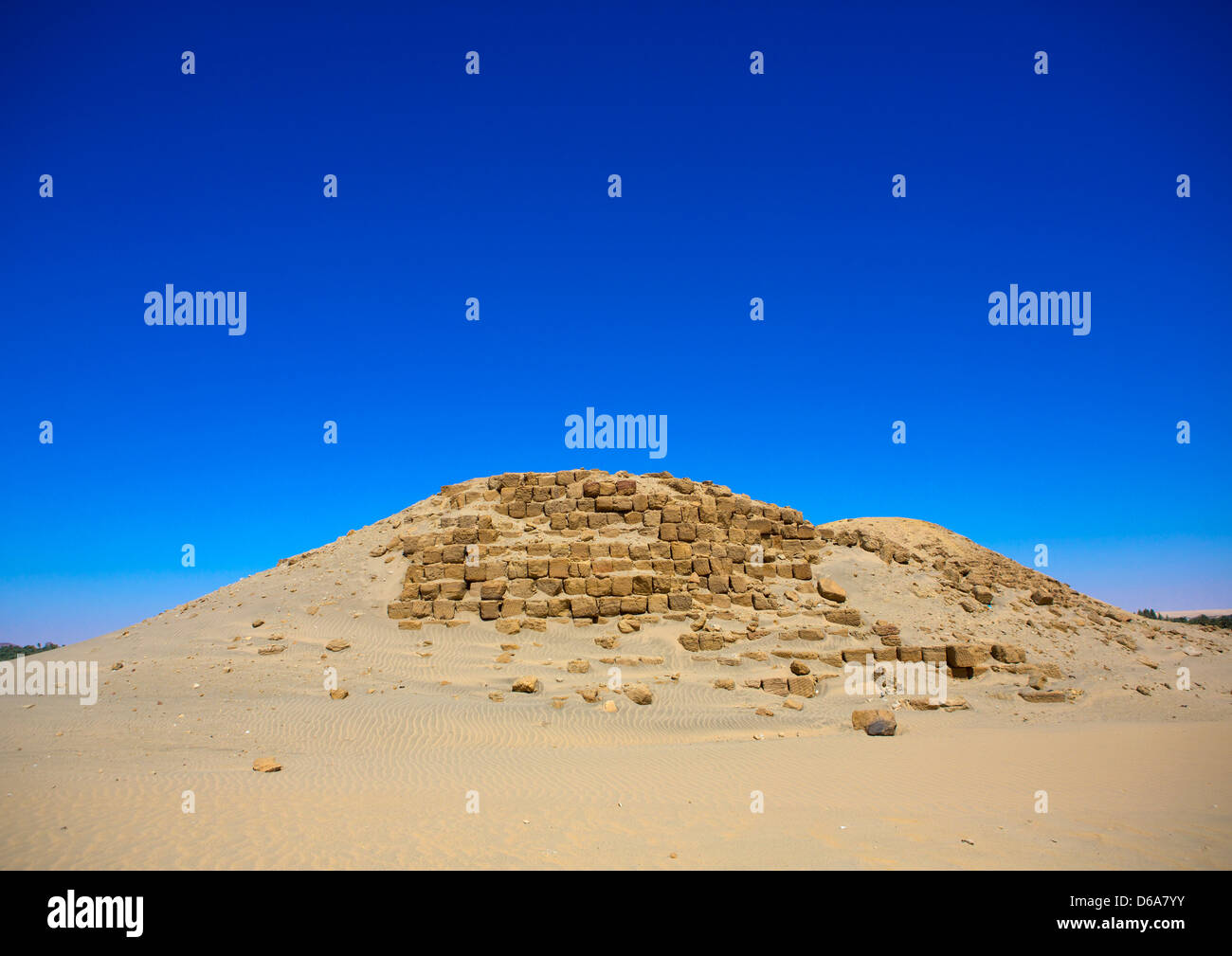 Royal Pyramids Of Napata, Nuri, Sudan Stock Photo