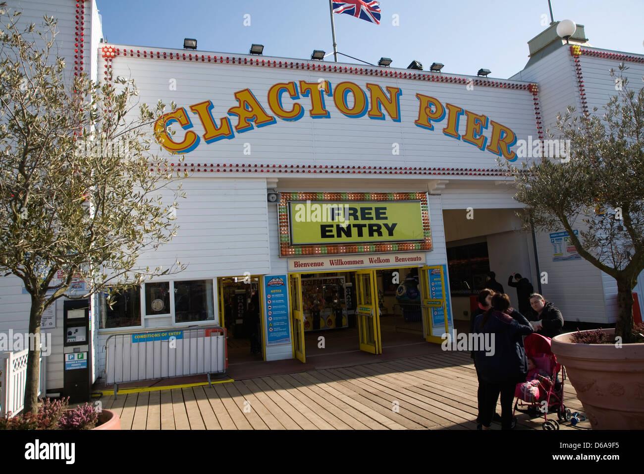 Clacton Pier, Essex, England - Stock Image
