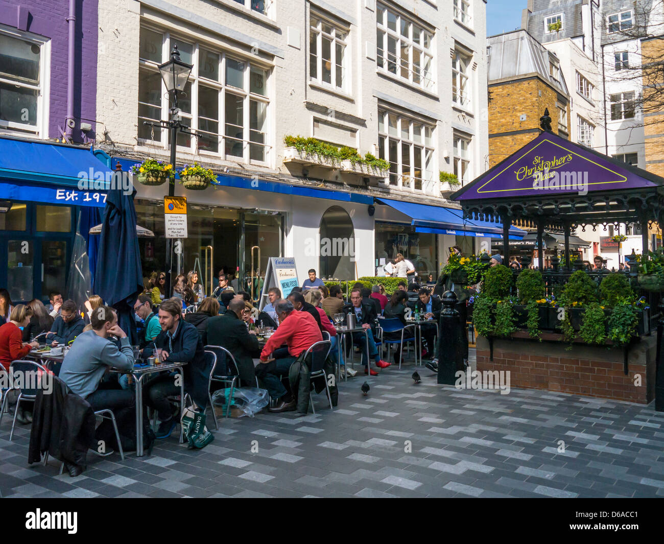 Diners St Christopher's Place in the Westend of London - Stock Image
