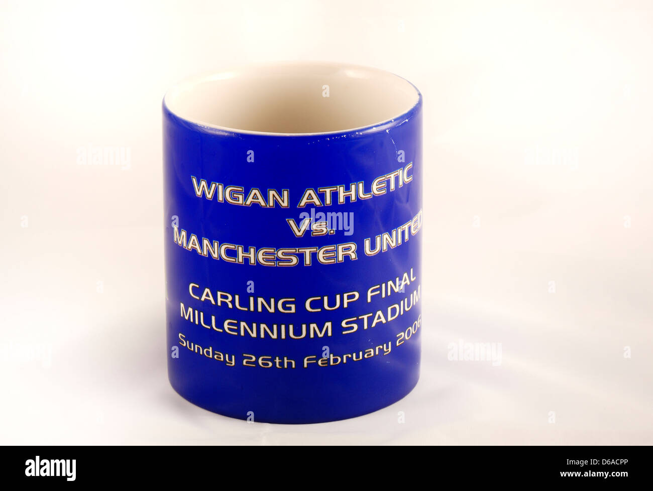 c86f1e917 Carling Cup League Cup Final 2006 commemorative mug for Wigan Athletic vs  Manchester United.