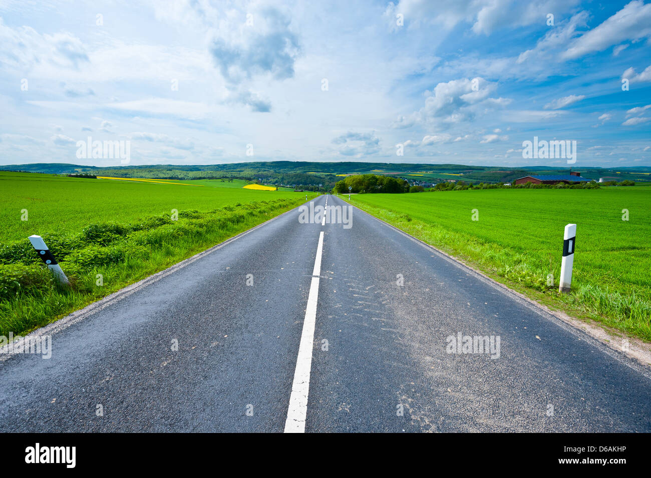 Strait  Road - Stock Image