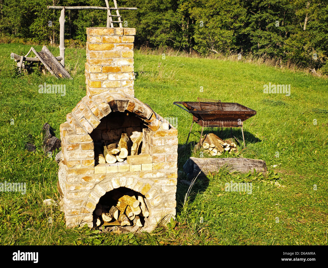 old stove - Stock Image