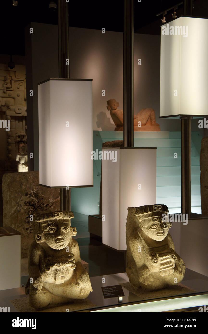Sculptures from Ek Balam, Gran Museo del Mundo Maya museum in Merida, Yucatan, Mexico Stock Photo