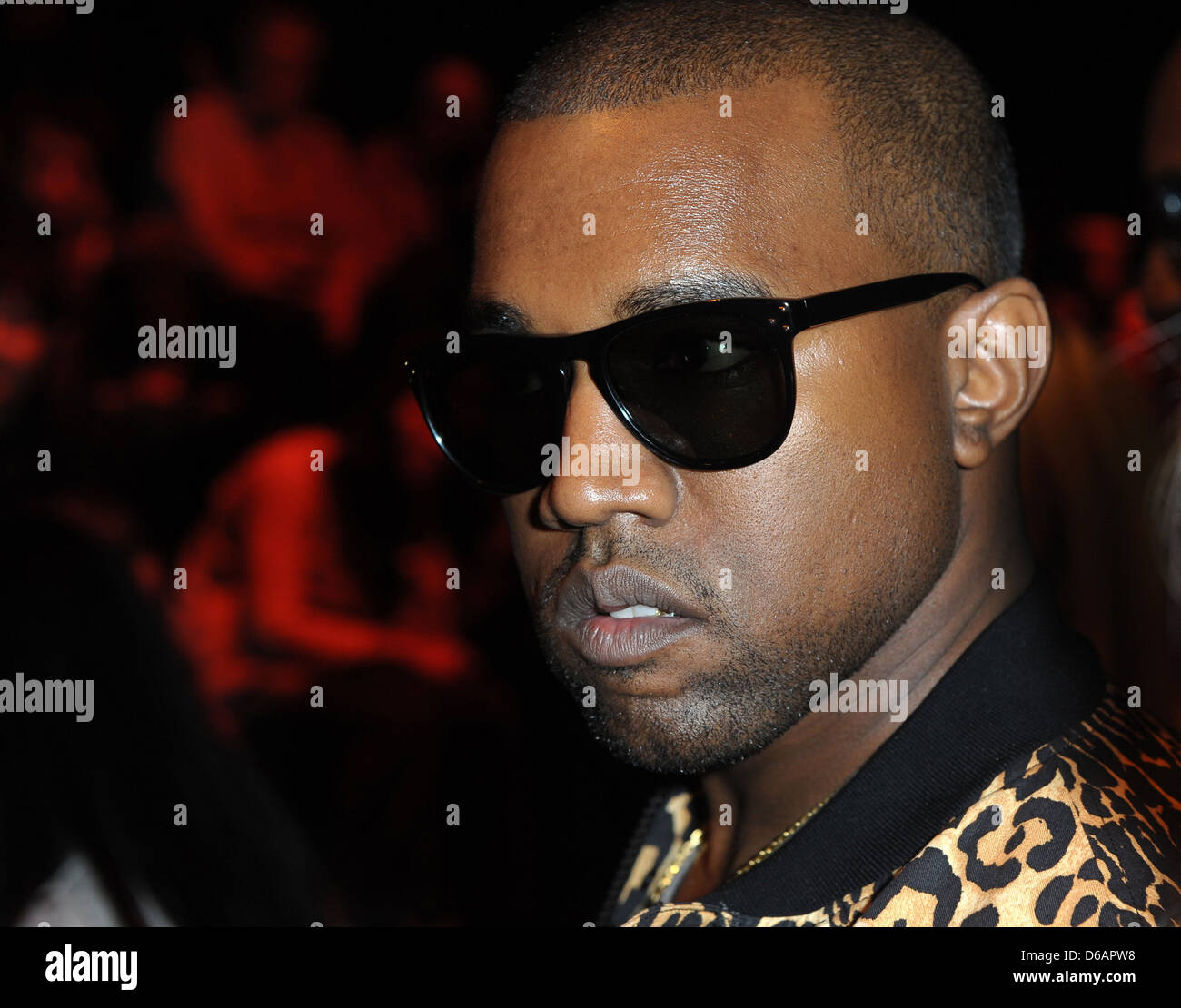 Kanye West Paris Fashion Week Fall-Winter ready to wear Vivienne WestwoodFront Row Paris France - Stock Image