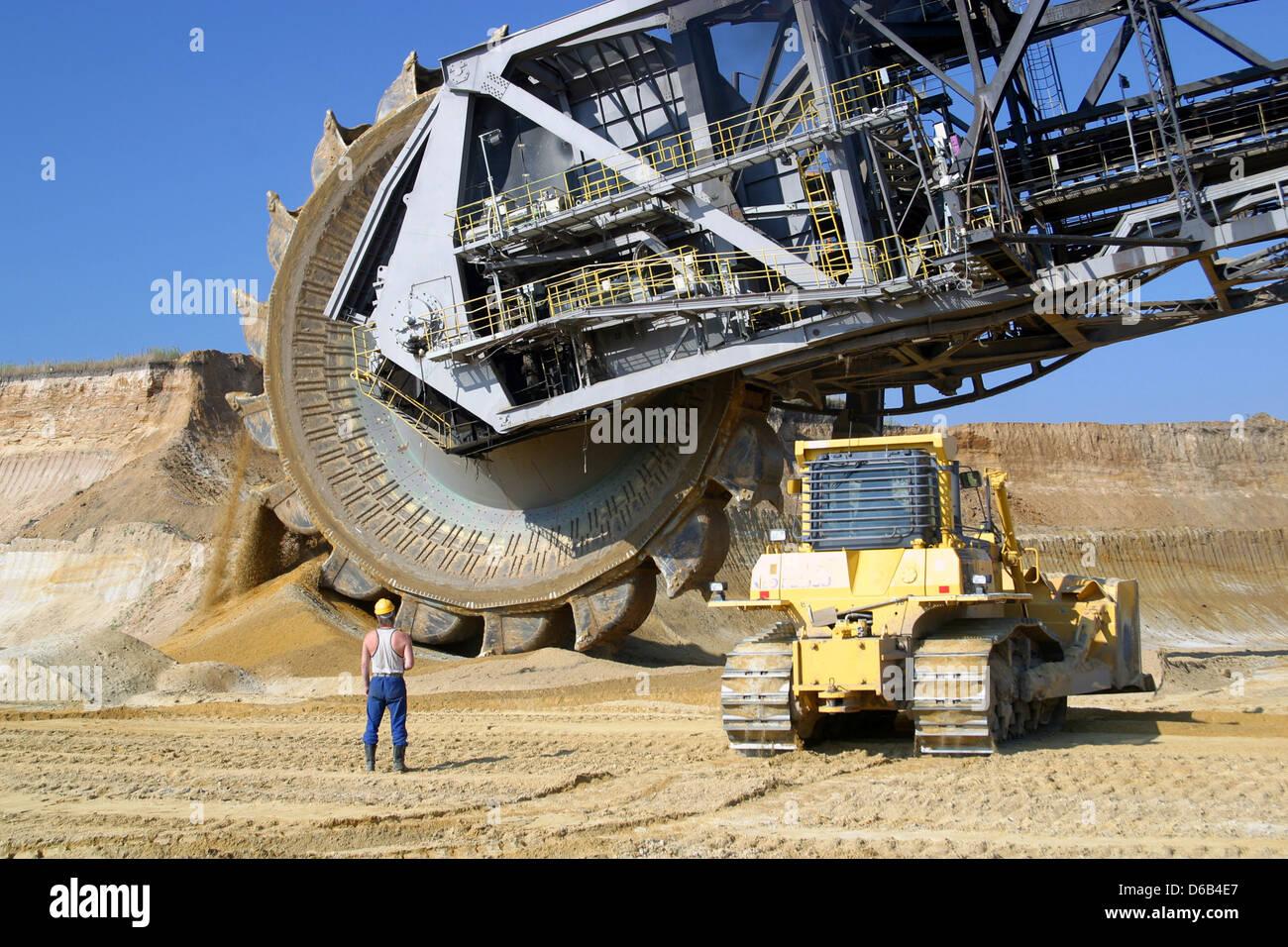 opencast,bucket excavator,mining,bucket wheel excavator - Stock Image