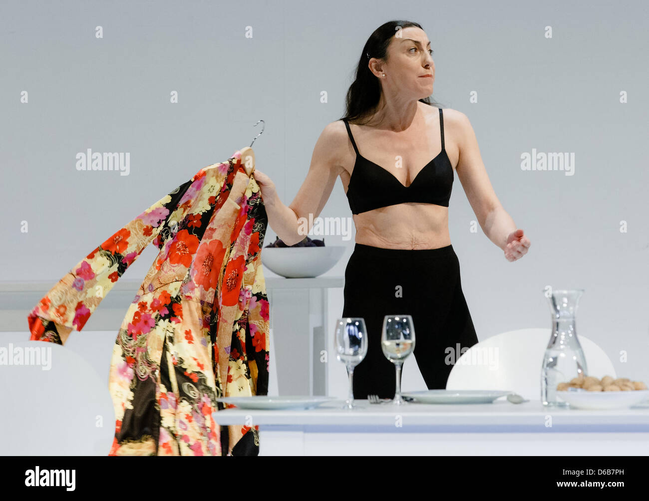 Actress Isabella Vertes-Schuetter, director of the Ernst Deutsch Theater, plays the role of 'Beth' during - Stock Image