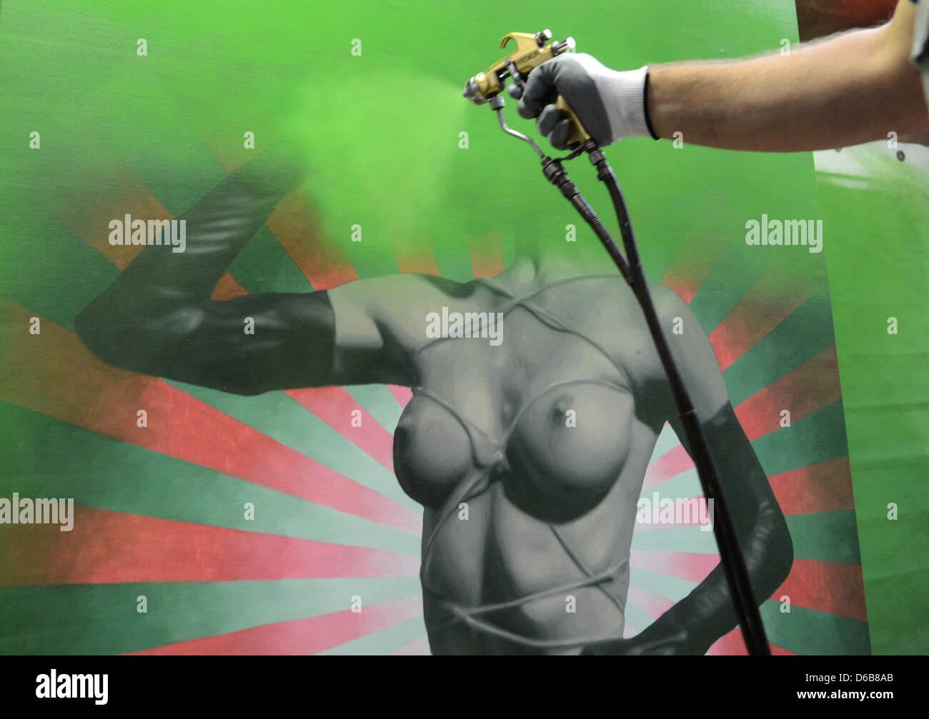 Volkswagen Spray Paint Stock Photos & Volkswagen Spray Paint