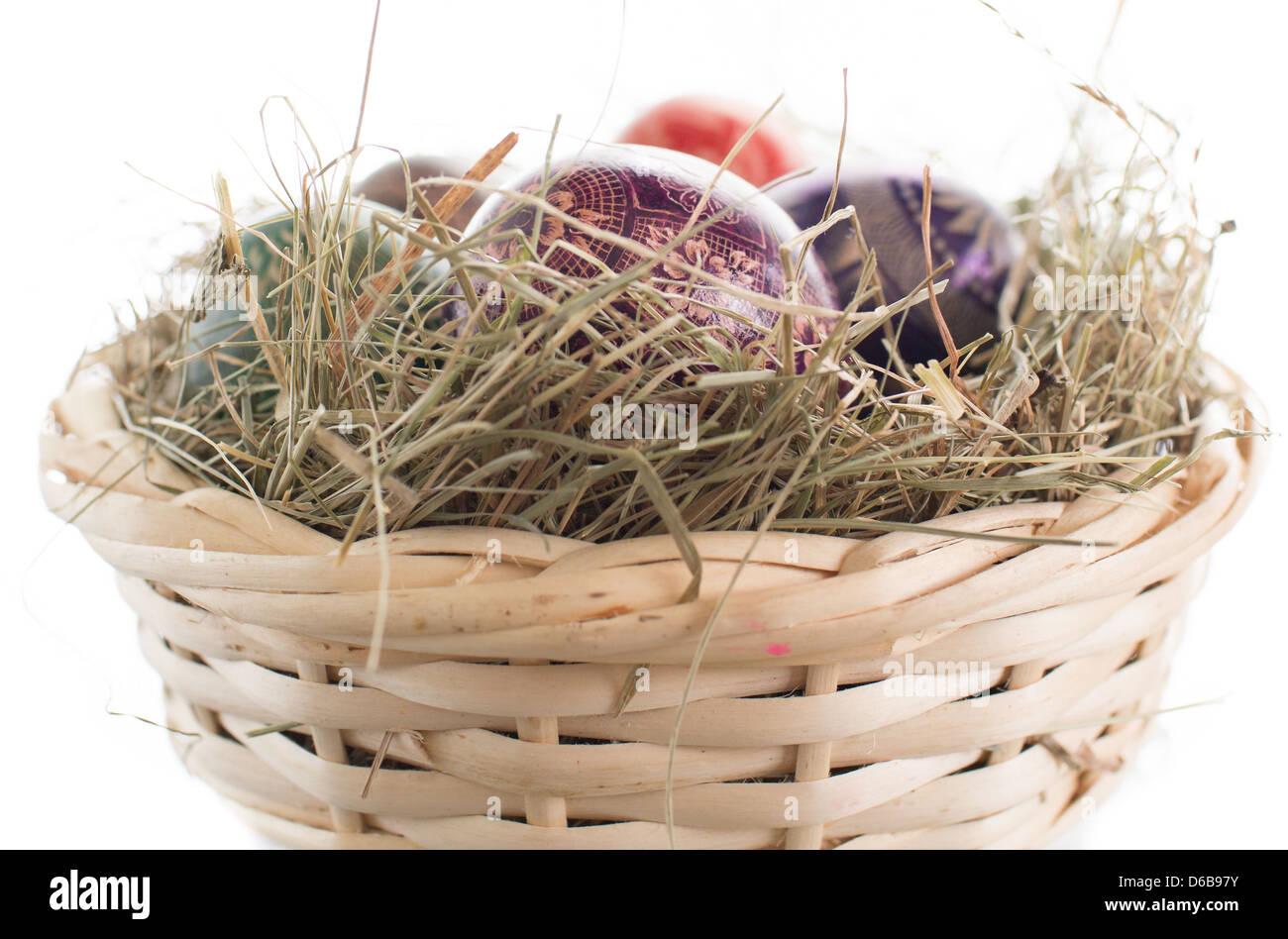 Easter basket. - Stock Image