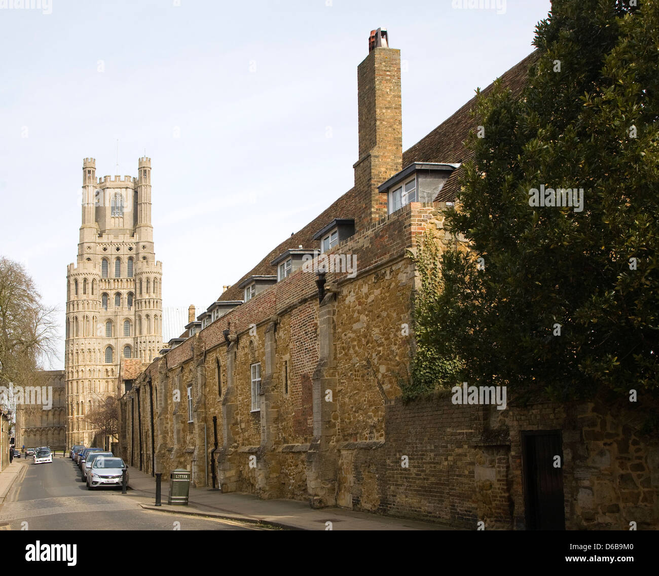 The King's School and cathedral at Ely, Cambridgeshire, England - Stock Image