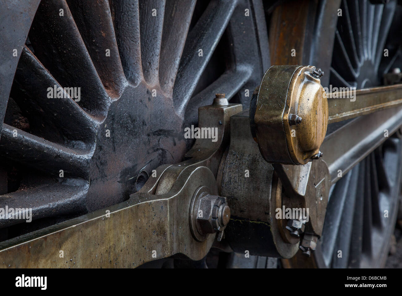 Steam Train Wheels Stock Photo