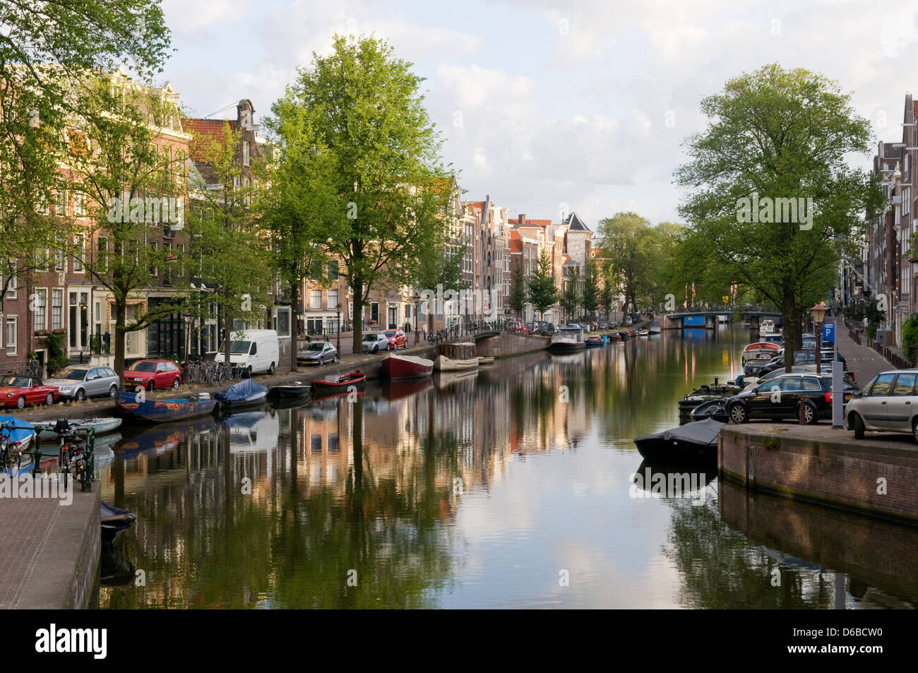 Prinsengracht, Amsterdam, Netherlands - Stock Image