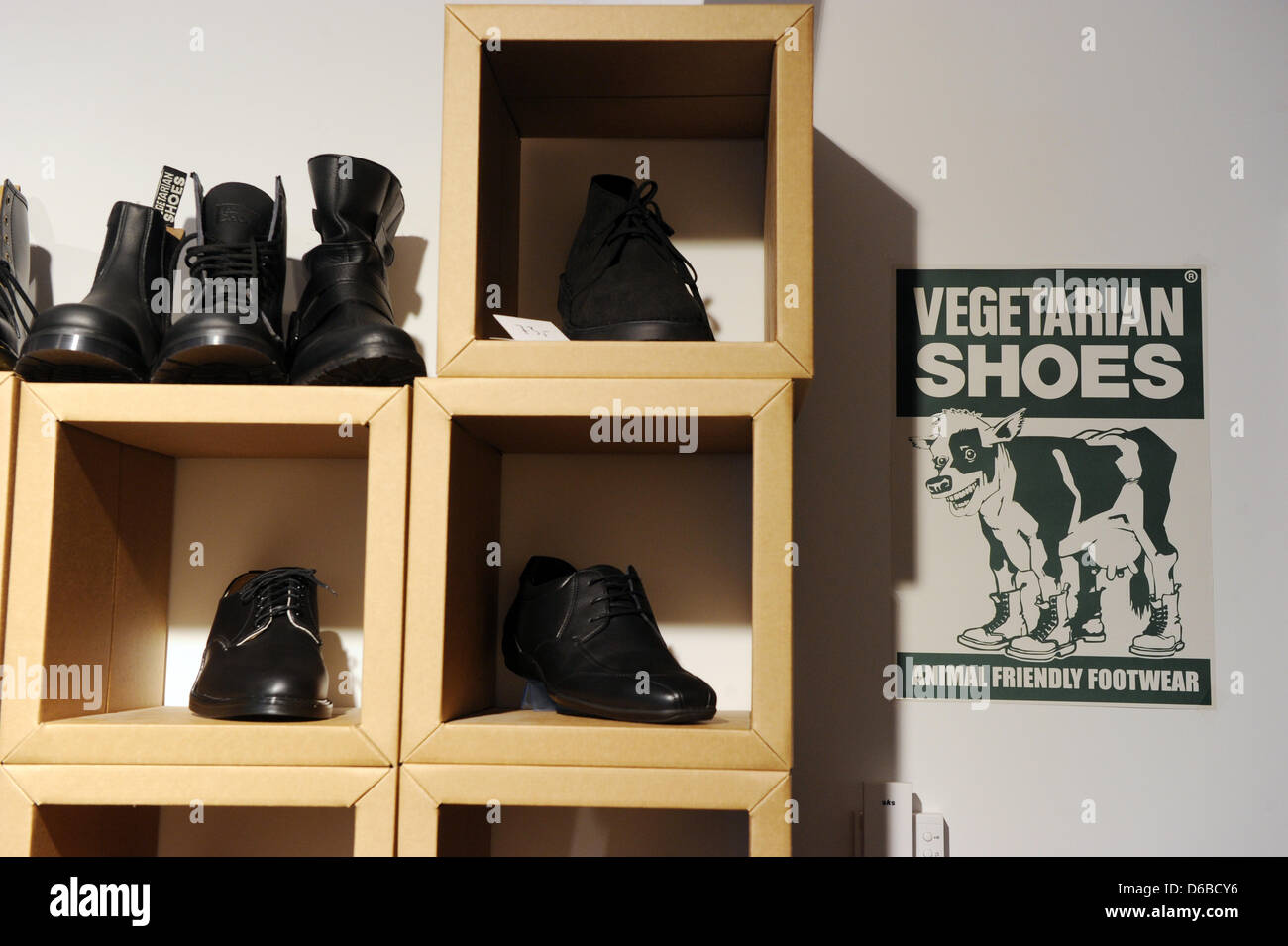 f09238392db3 Animal-friendly shoes are on offer at a vegan shoe store in Berlin