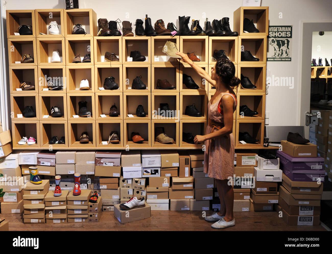 vegan shoe store in Berlin Stock Photo