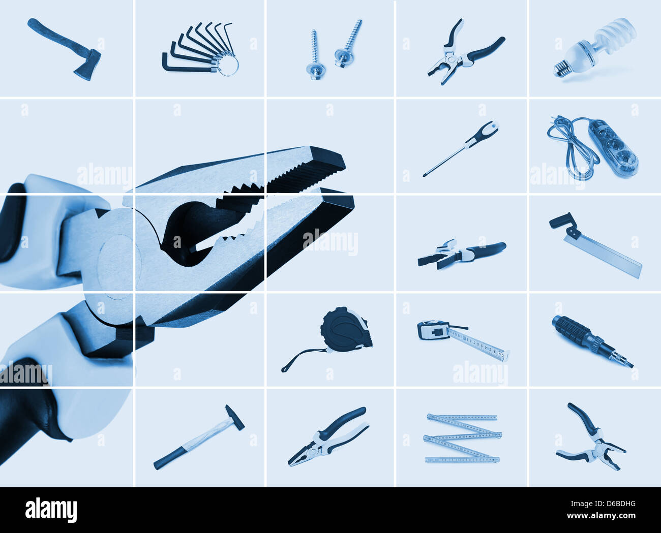 set of instrumental tools - Stock Image