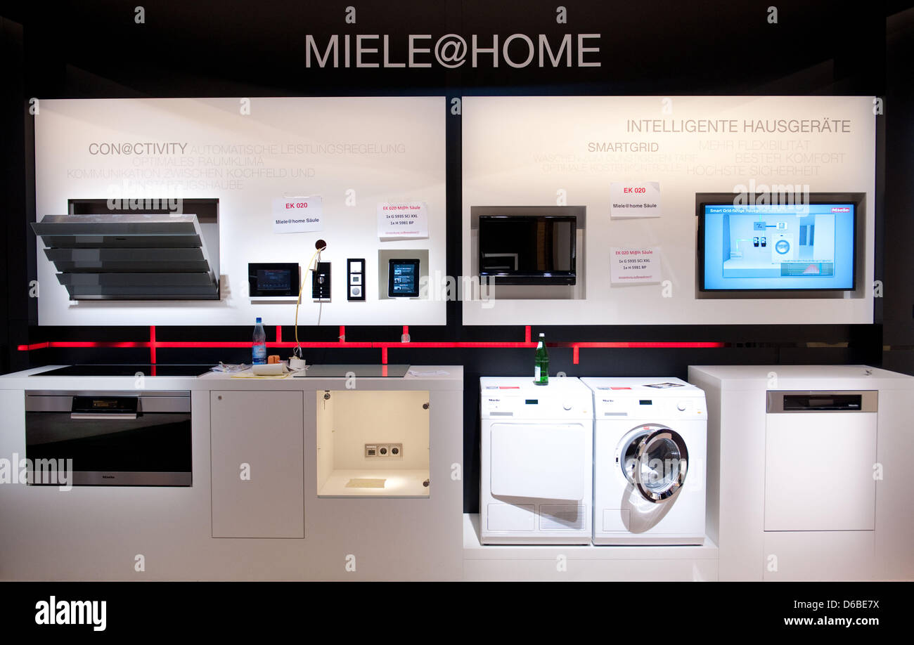New electrical appliances by manufacturer Miele are on display at ...