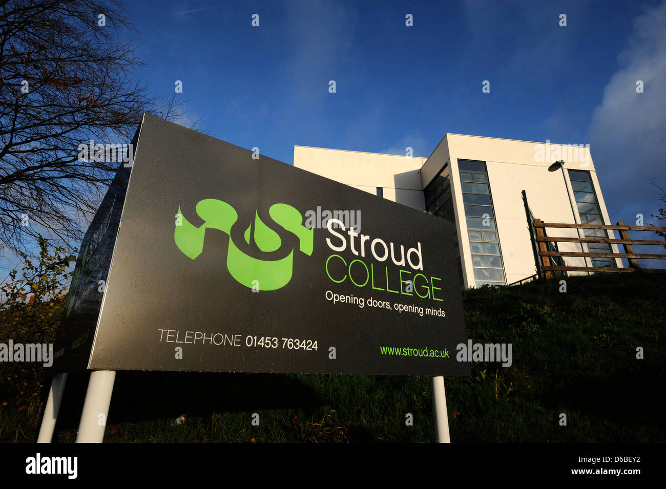 General views of Stroud College, Gloucestershire UK Stock Photo