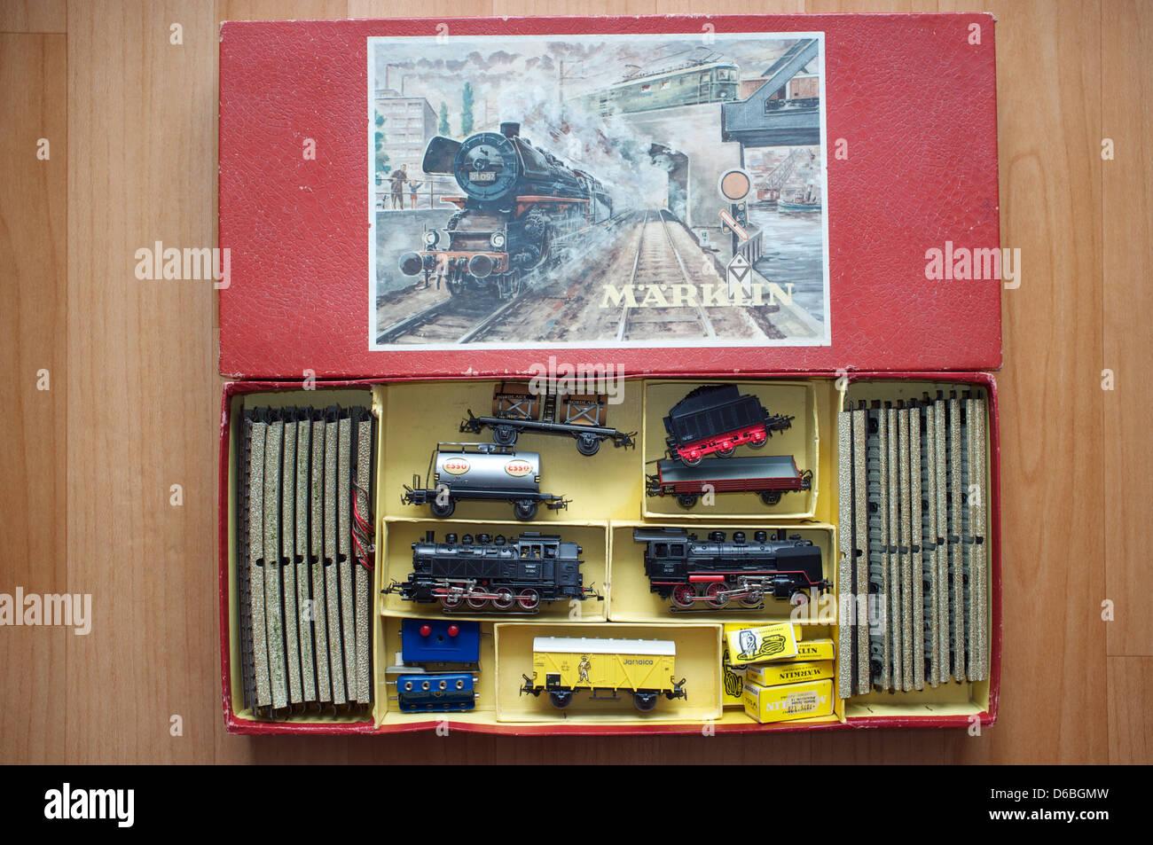 Marklin train set Stock Photo
