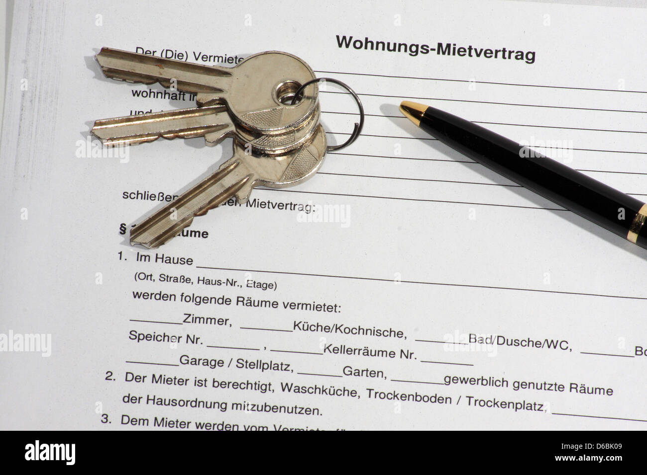 Key Handover Housing Search Lease Agreement Stock Photo 55575417