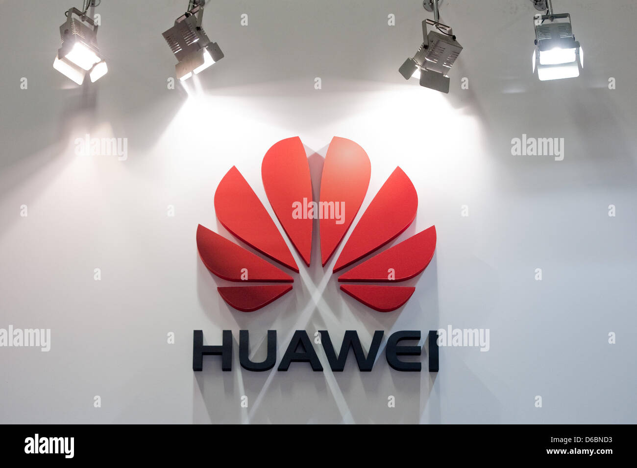 The booth of Chinese electronics company Huawei at consumer Stock