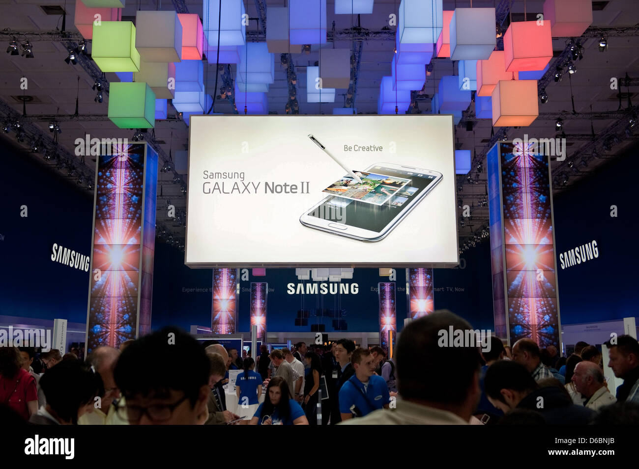 The Booth Of Korean Electronics Company Samsung At Consumer Stock Photo Alamy