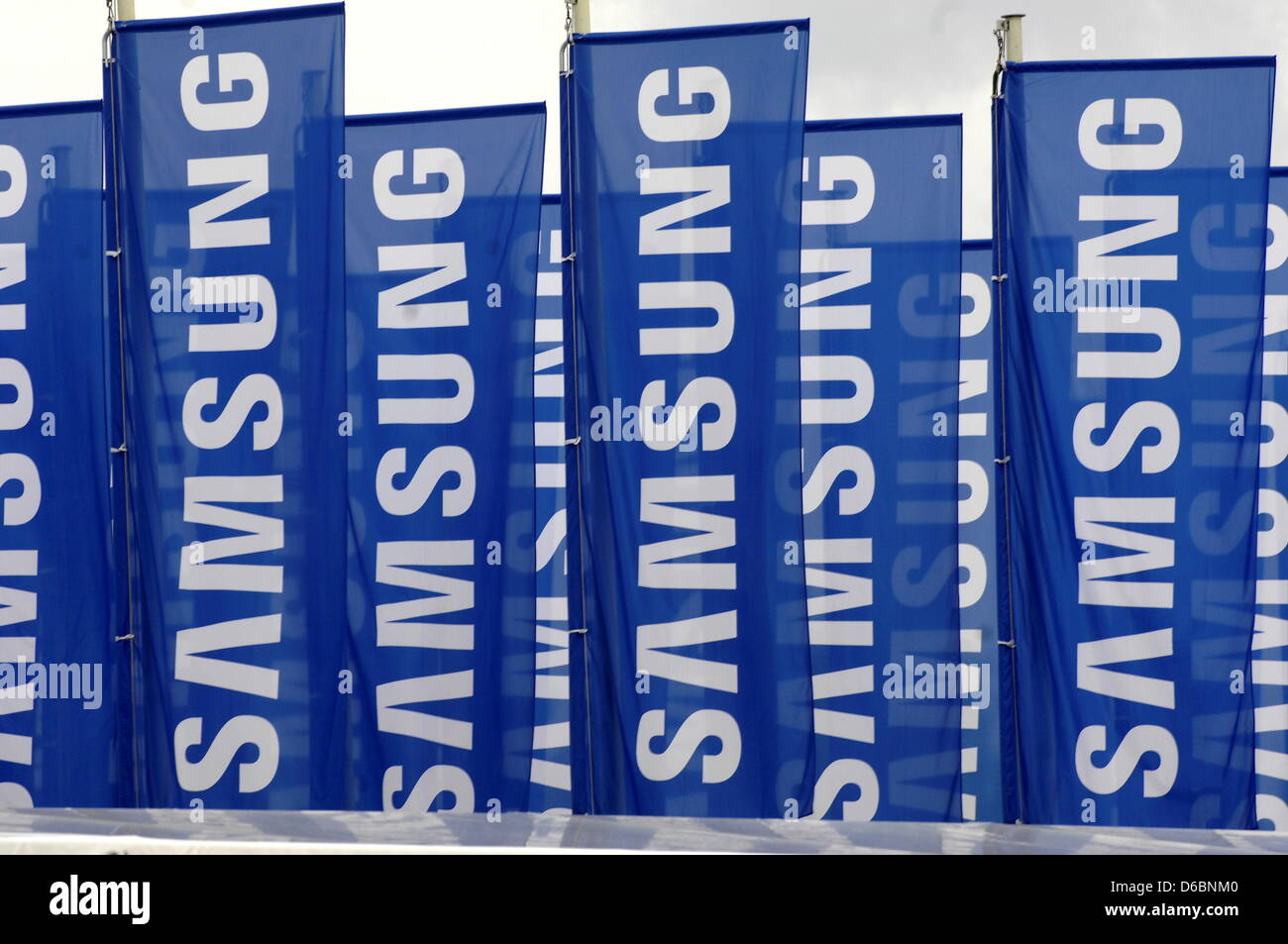 The Booth Of Korean Electronics Company Samsung At Consumer Stock Photo 55577536 Alamy