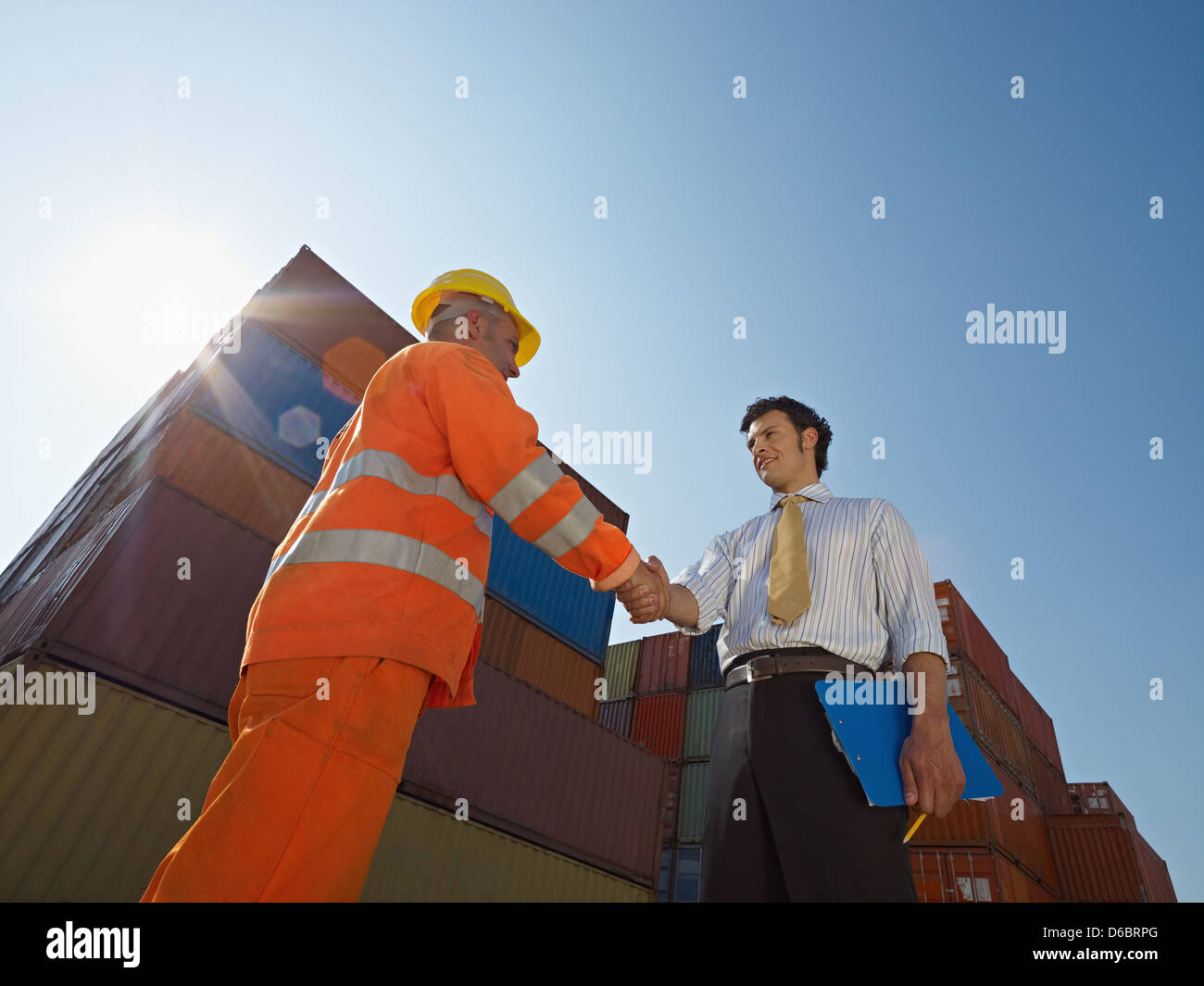 cooperation,logistics,handshake,arrangement - Stock Image