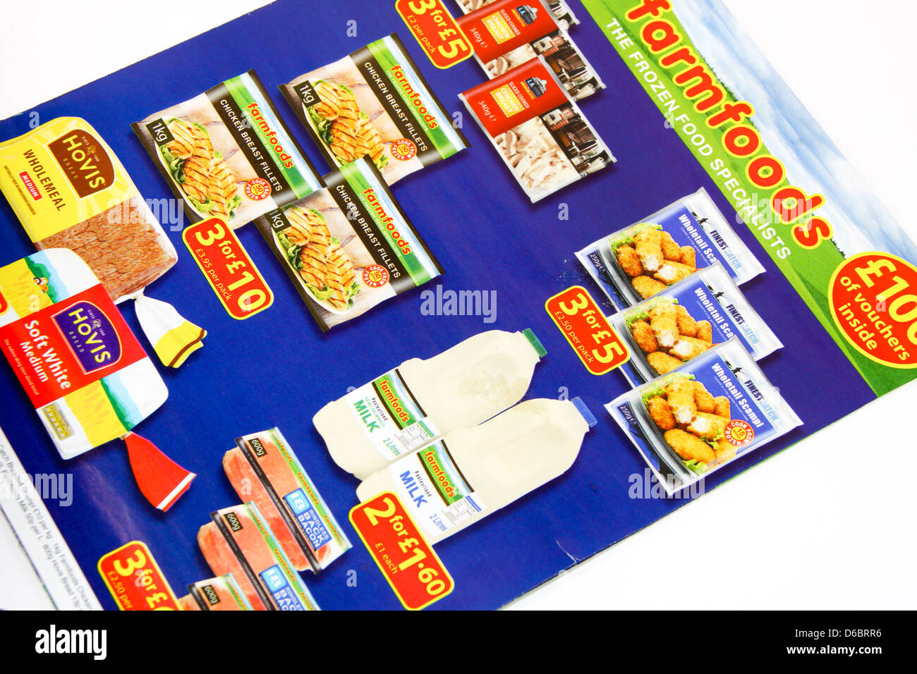 Farmfoods frozen food promotional mailing - Stock Image