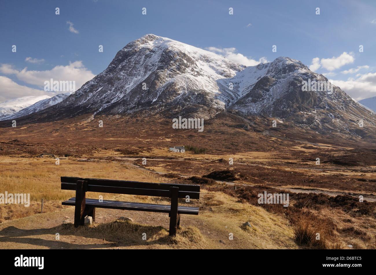 Viewpoint of Buachaille Etive Mor, Glencoe, Scottish Highlands - Stock Image