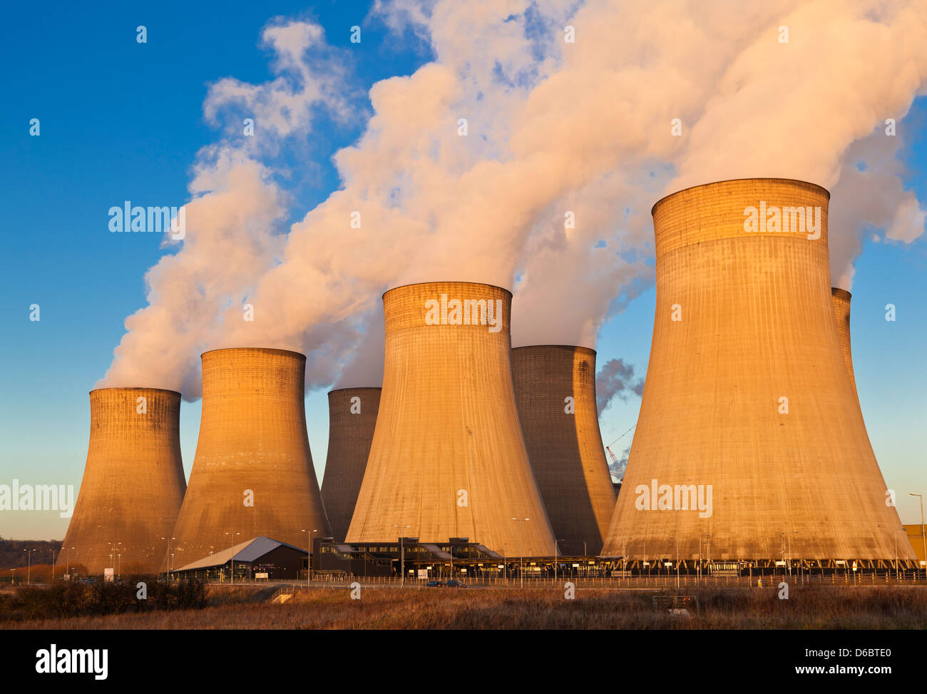 Ratcliffe-on-Soar coal-fired power station Ratcliffe on soar Nottinghamshire England UK GB EU Europe - Stock Image