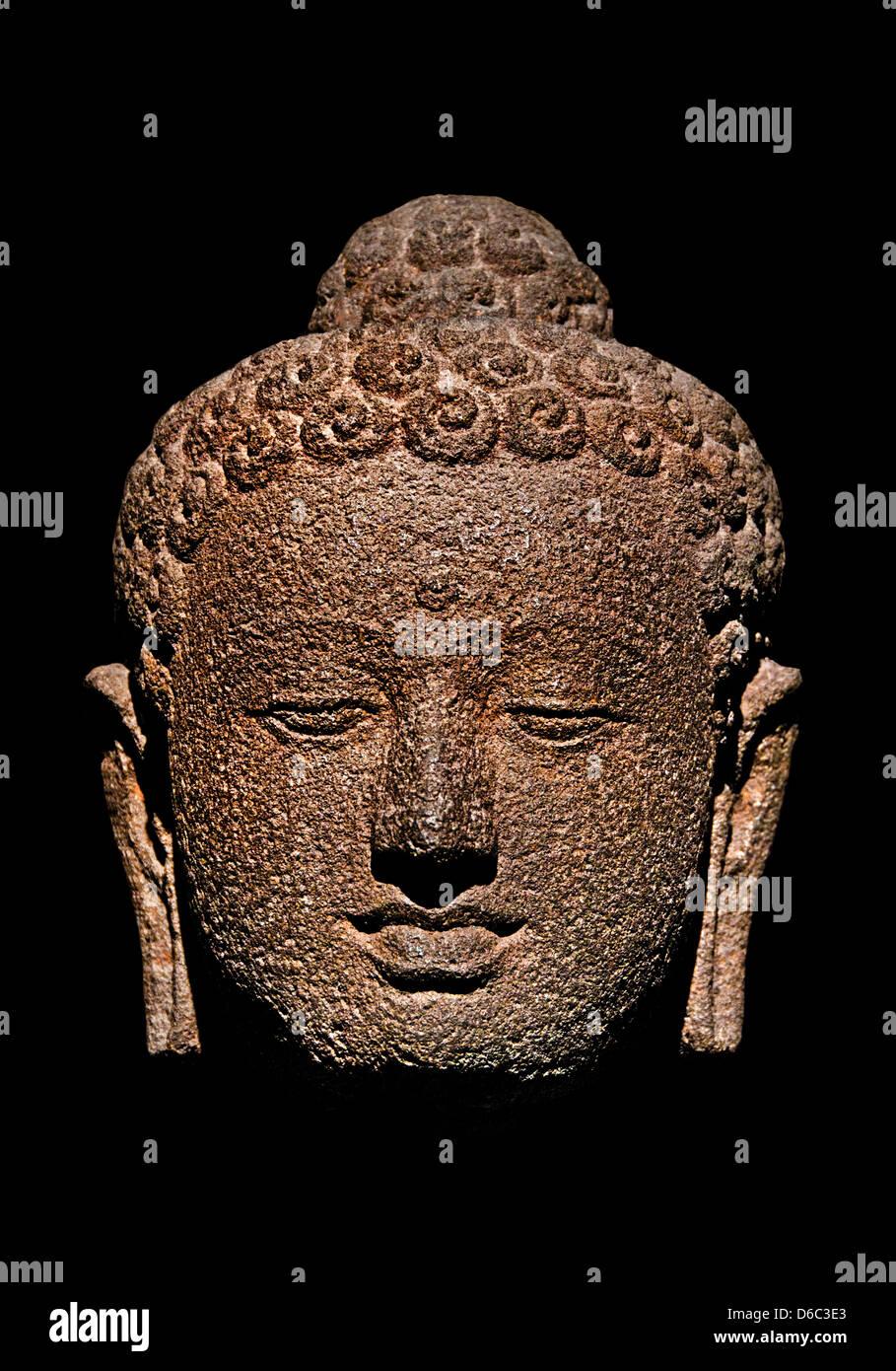 Jina Candi Borobudur Central Java 7 - 9 century  Andesite Indonesia Stock Photo