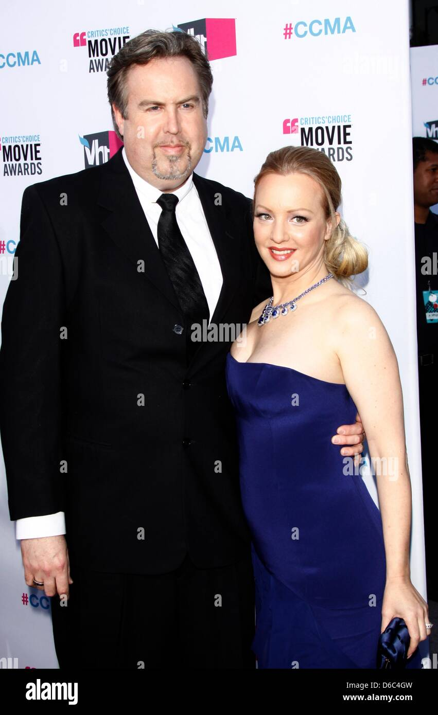 actress wendi mclendon covey and her husband greg covey arrive at