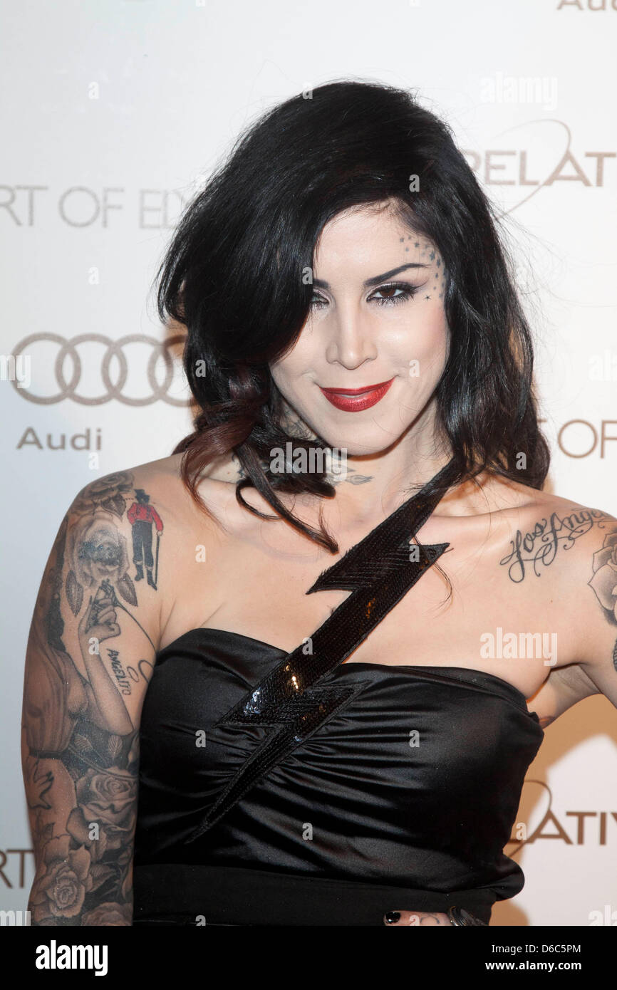 Tv Personality And Tattoo Artist Kat Von D Attends The Art Of Stock