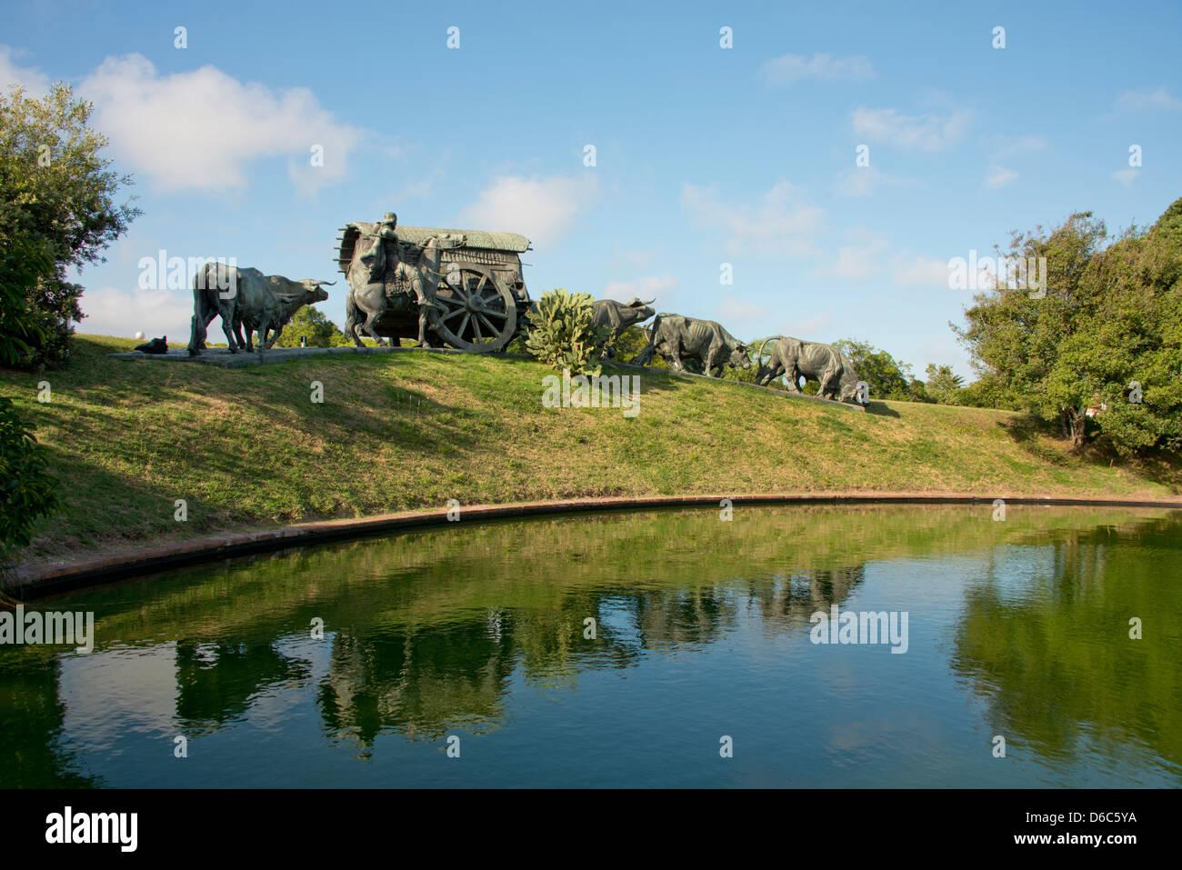 Uruguay, Montevideo, Battle Park (Parque Jose Battle y Ordonez). Famous sculpture, La Carreta. - Stock Image