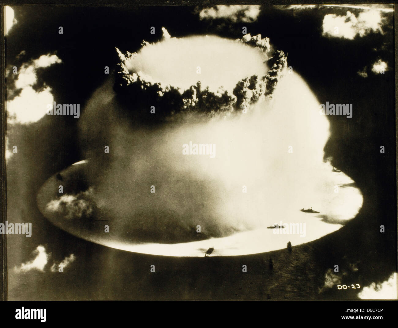 Atomic Bomb Test, Bikini Atoll, 1946 - Stock Image