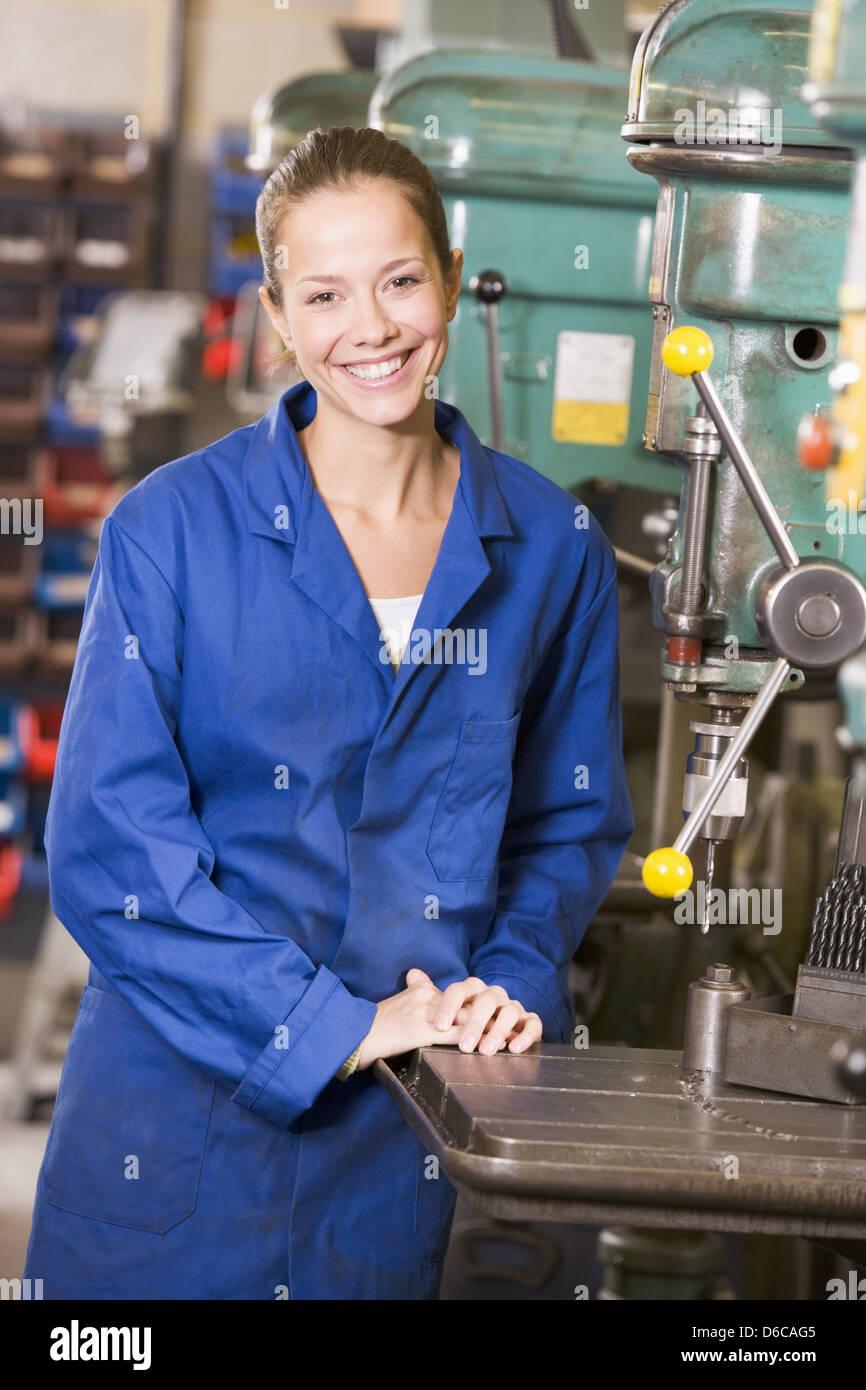 Trainee,metalworking,cutting Machine Operator   Stock Image
