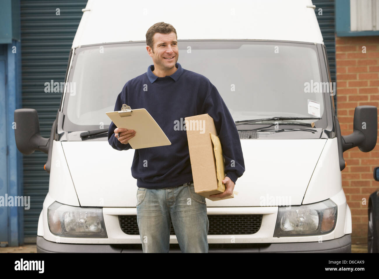 parcel service,messenger,delivery people - Stock Image