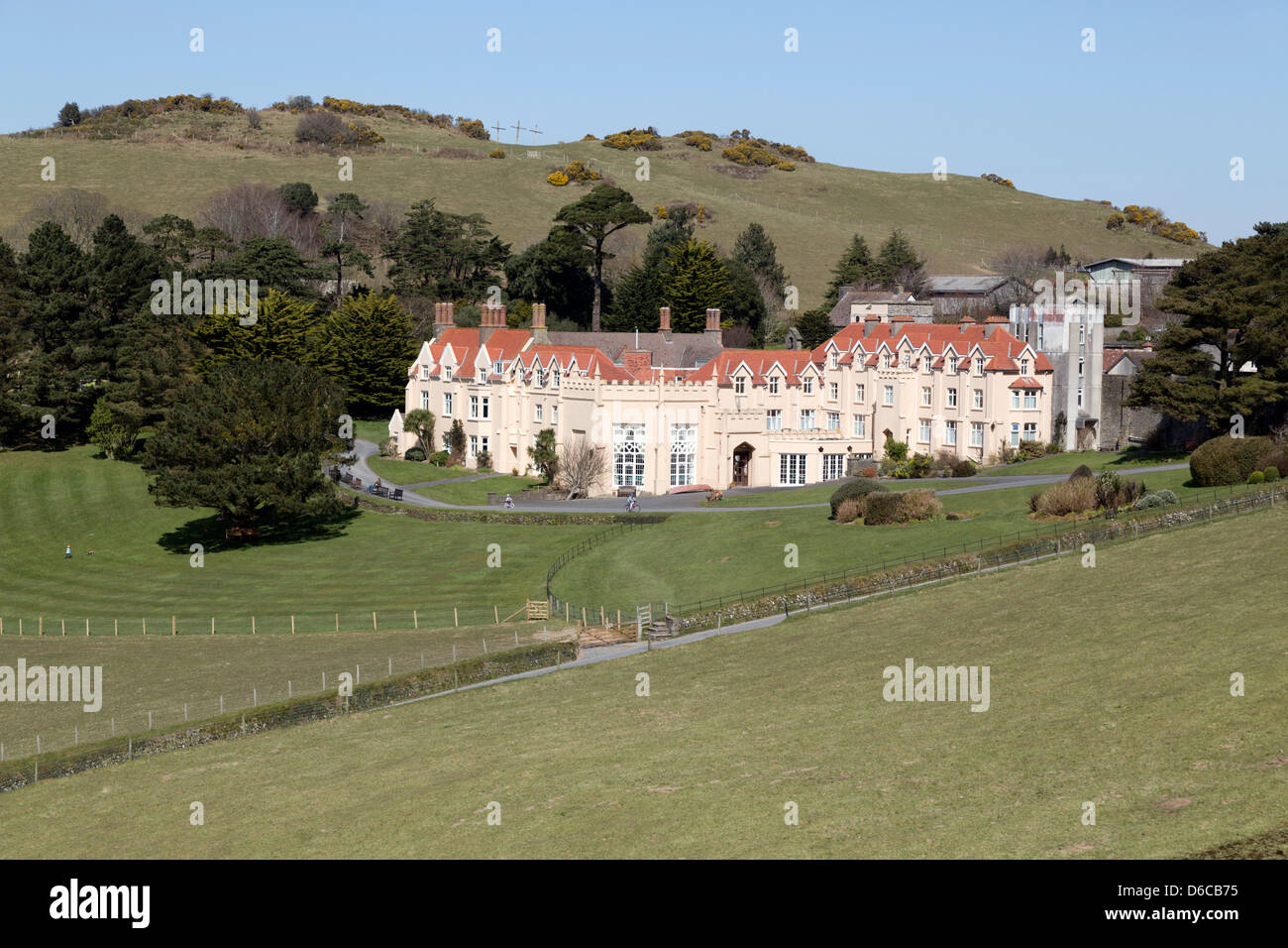 Lee Abbey; Lynton; Devon; UK - Stock Image