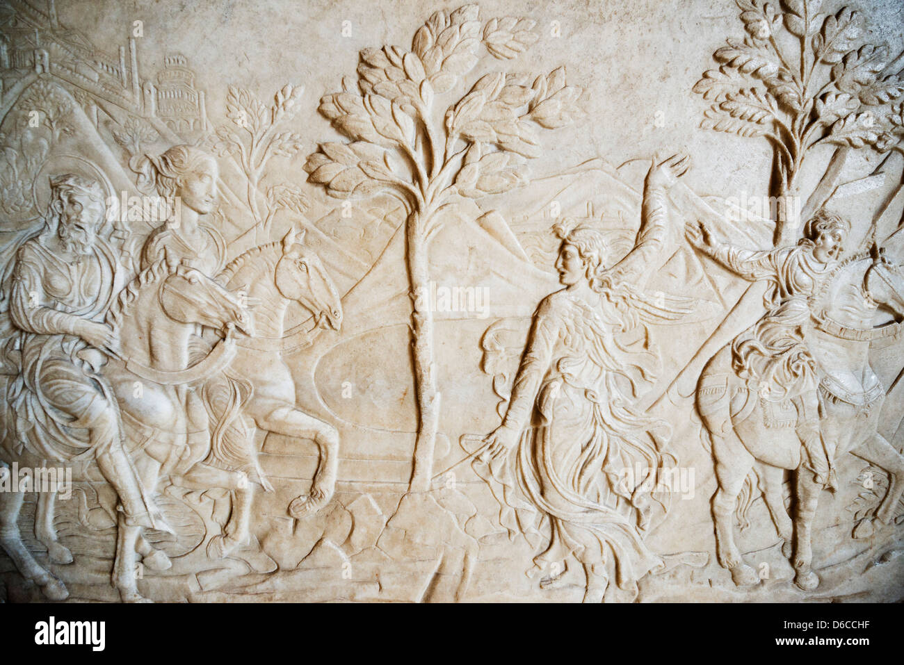 Europe, Italy, Lombardy, Milan, museum at Castle Sforzesco, marble sculpture Stock Photo