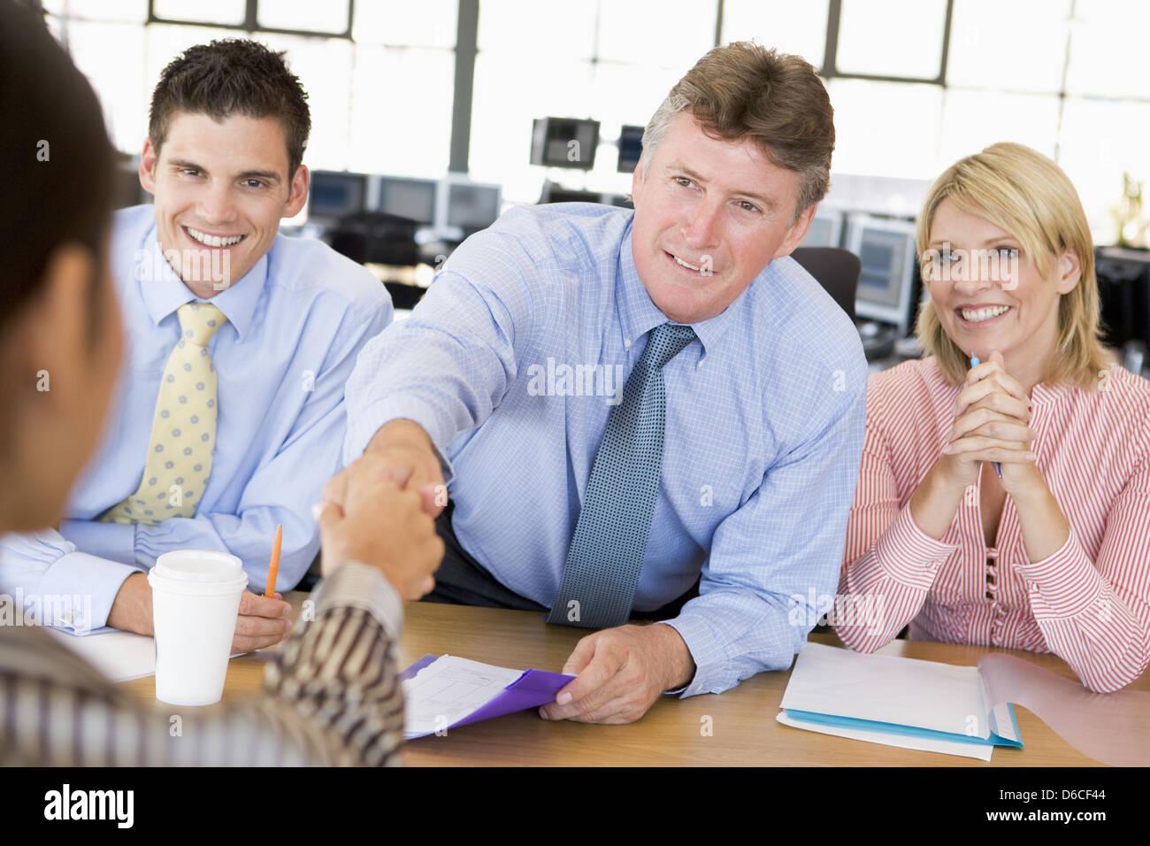 handshake,job interview,interview,business partnership - Stock Image