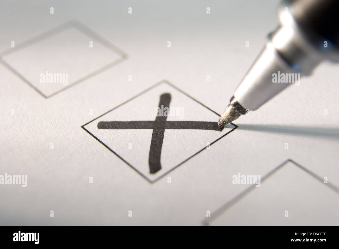 cross,ticking,choose,checklist - Stock Image