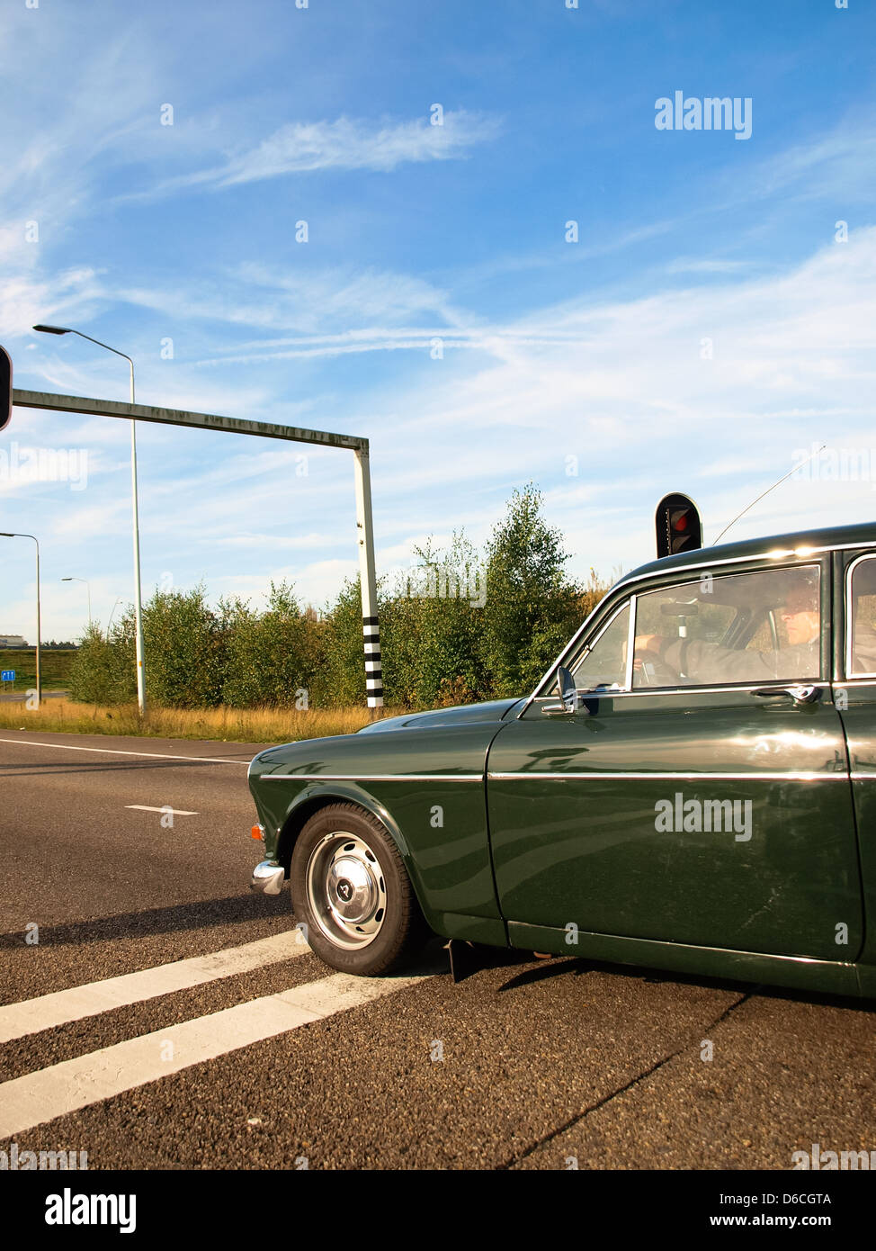 Old Volvo Car On A Highway Stop Stock Photo 55595690 Alamy