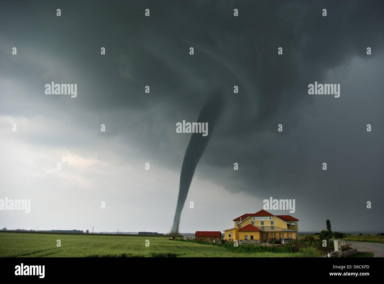 storm,natural disaster,cyclone,tornado - Stock Image
