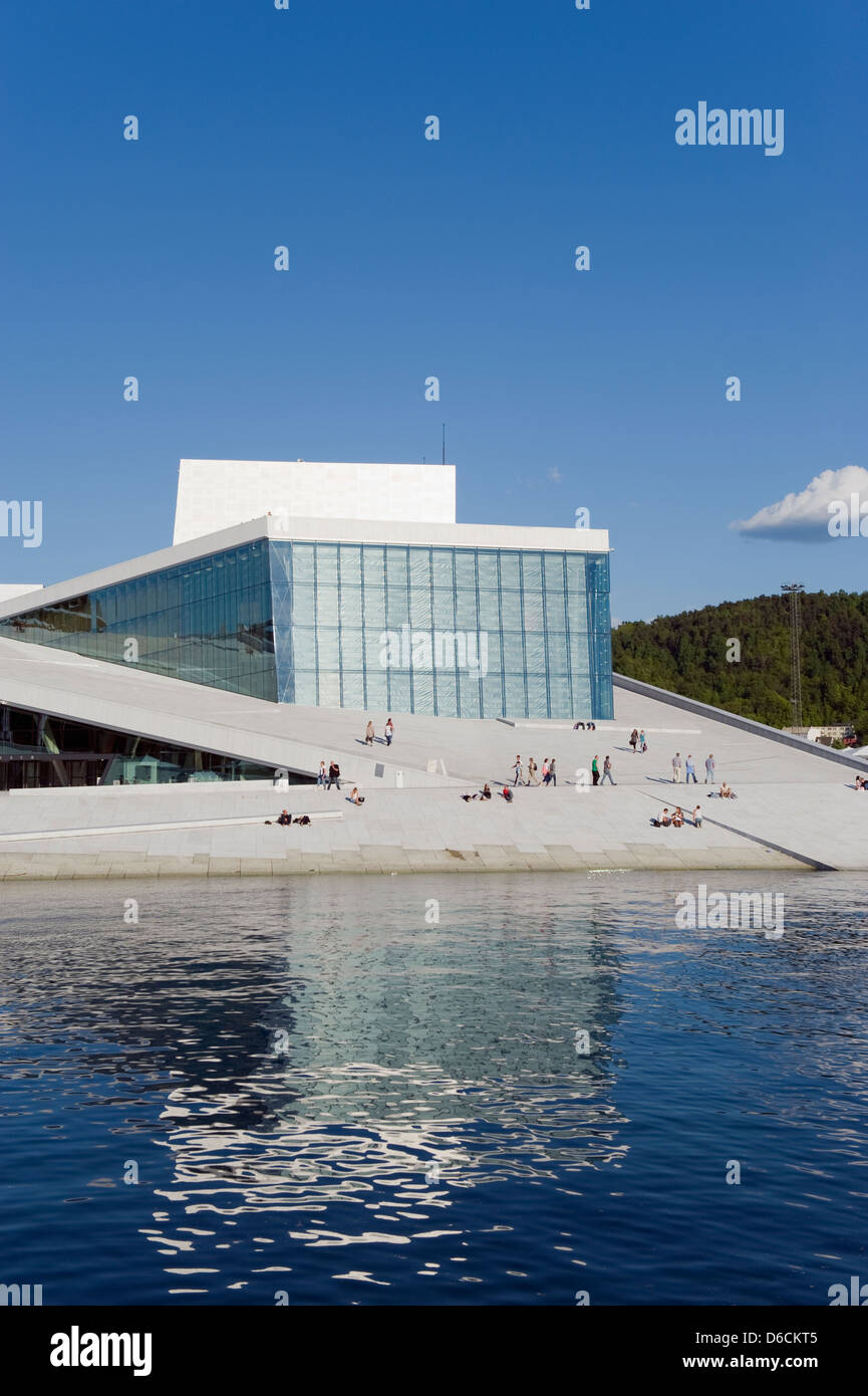Den Norske Opera & Ballet House, founded in 1957 by Kirsten Flagstad, Oslo, Scandinavia, Europe - Stock Image