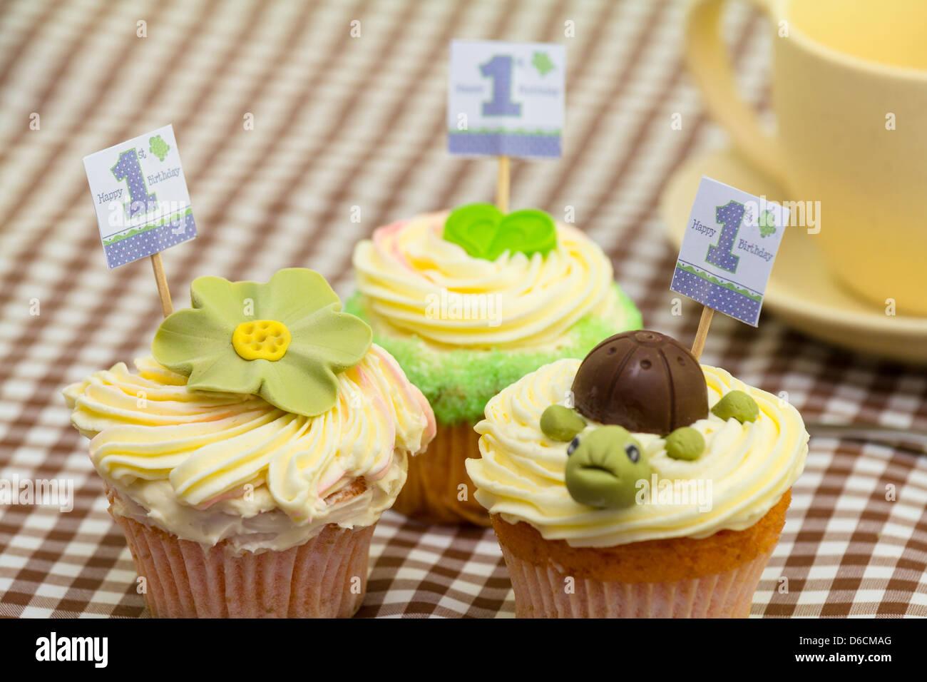 First Birthday Cakes Stock Photo 55598440