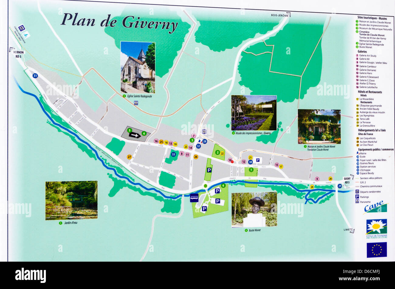 Giverny France Village Town Stock Photos Giverny France Village