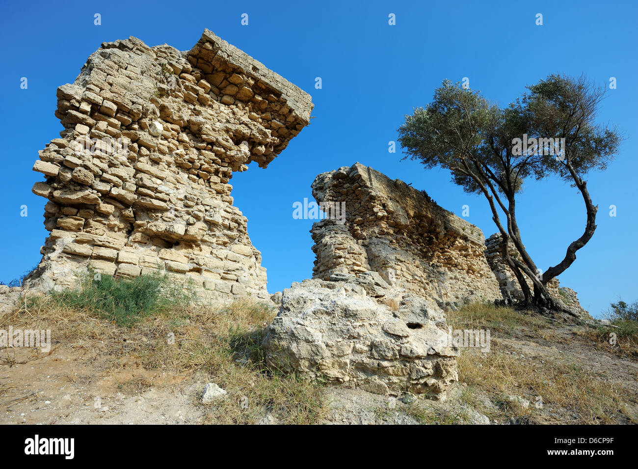 Remains of ancient walls - Stock Image