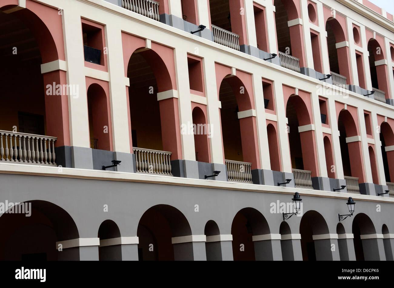 Ballaja Barracks in Old San Juan, Puerto Rico - Stock Image