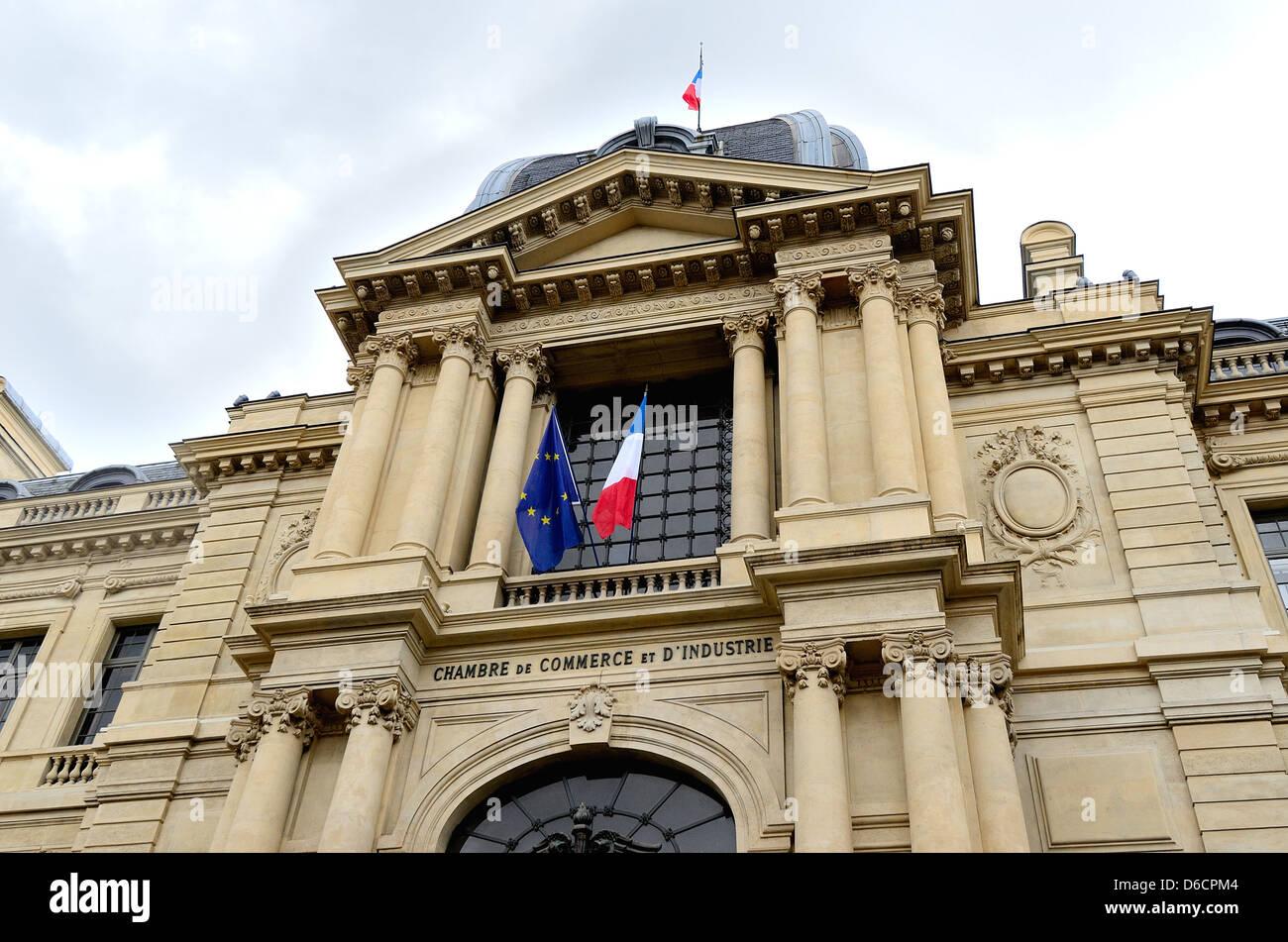facade of chambre de commerce et dindustrie on avenue friedland paris france