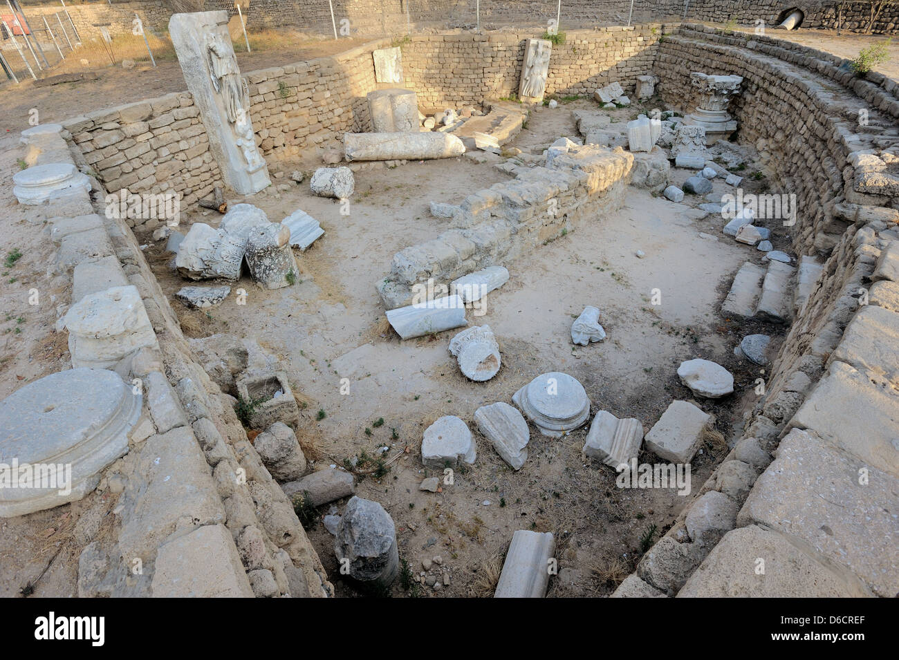 Remains of the Roman Basilica - Stock Image